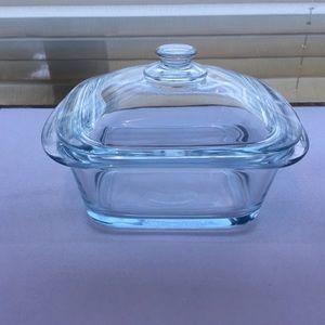 Pyrex Mini Casserole Glass Baking Dish Mint Shape!